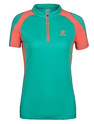 Outdoors Camping Hiking Summer Women's Polyester Multi-Colors Quick-drying Wicking Breathable Short Sleeve T-shirts