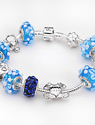 Fashion jewelry 925 Sterling Silver Murano Glass Crystal European Charm Beads Fits Strand Beads Charm Bracelets BLH012
