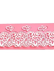 Heart Flower Lace Cake Molds
