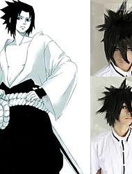 Angelaicos Men Death Note Sasuke Uchiha Boys Black Short Layered Harajuku Halloween Party Costume Cosplay Wig