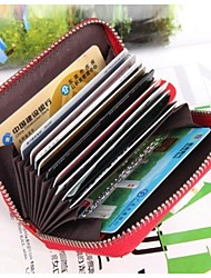 MEGA Women's &Men's Genuine Leather Credit Card ID Holders