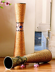 "23.6 ""h estilo moderno padrão de flor vaso vaso de ferro cilíndrico"