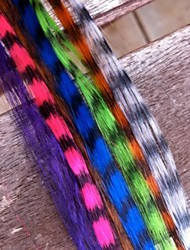 100 Pieces 16 Inch Synthetic Grizzly Rooster Feather Hair Extension Feathers Extensions and 100 Free Beads