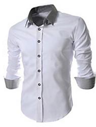 White Men's Fashion Korean Fashion Slim Shirt