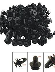 a0018 100 unidades do carro do painel interior clips guarnição rebite plástico preto