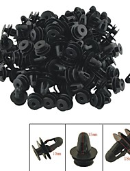 A0018 100 Stück Autoinnenverkleidungen Clips schwarze Kunststoffniete
