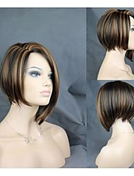 High Quality Popular Party Wig Mix Color Middle Long  Straight  Woman's Synthetic Wigs Hair Sexy Wig