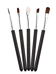 5pcs spécialisés cosmétiques outils de maquillage brosses Kit Black