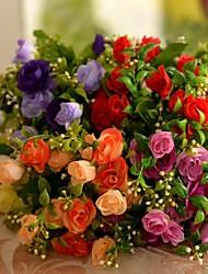 "10.6 ""l conjunto de um casal 5 MEMBROS rosas de seda flores de pano"