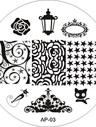Nail Art Stamp Stamping Image Template Plate AP Series NO.3