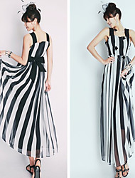 XXLY Women's Stripe Print Dresses