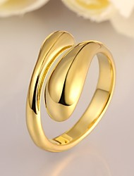 Fashion Geometry Shape Environmental Protection Material Copper Foreign Trade Ring(2 color)(1Pc)