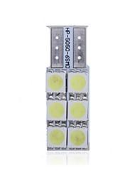 4pcs Canbus Interior T10 6 SMD 5050 LED T4W 6523 1895 6SMD 5050 DC 12V