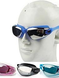 Fashion Style Swim Goggles Glasses For Adult Men Women Adjustable Electroplat Pool Waterproof Anti-fog Big Frame Anti-UV