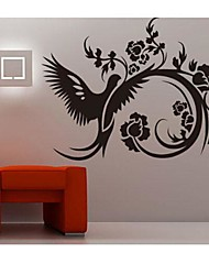 Removable Black Rhododendron Living Room/  Sofa Backdrop Wall Sticker