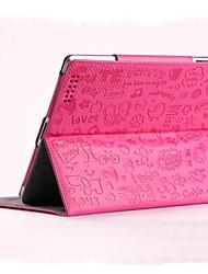 Кожа PU , черный/зеленый/розовый ) - аниме - Яблоко iPad 1