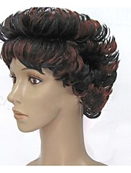 Top Quality Fashion  Mix Color Short  Curly Wig Woman's Synthetic Wigs Hair