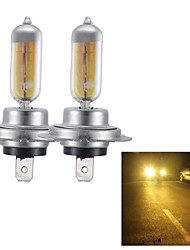 H7 55W Super Yellow HID Xenon Halogen Bulb Headlight for Cars (DC 12V/ pair)