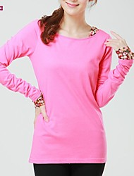 Women's Blue/Pink/Black/Yellow/Gray T-shirt Long Sleeve