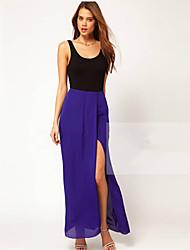 хорошие женщины Новейший сращивания шифон платье
