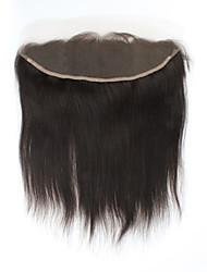 """1pcs / lot 12inch 13 """"x4"""" fermeture de cheveux naturelle brésilienne vierge de cheveux humains dentelle frontale fermeture droite"""