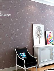 papier peint contemporaine floraux pourpres dessins de fleurs gris pour le mur de la chambre des filles domaines de l'art non-tissé mur de