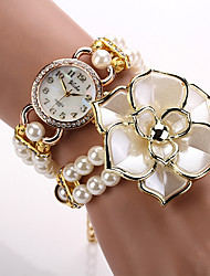 Watches Women Quartz Watch Relogio Feminino Bracelet 2015 Women Designer Brand Luxury Wristwatch Pearl Rose Flower