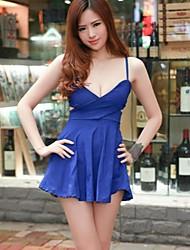 Mini - Vestido - Sensual - Algodón/Licra