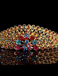 Women Alloy Tiaras With MultiColor Rhinestone Wedding/Party Headpiece