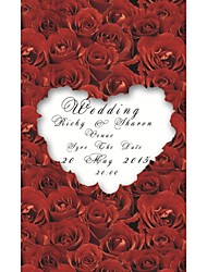 Personalized 200pcs/Lot Wholesale Rose Elegant Laser Cut Wedding Invitations Save The Date Paper Card