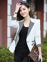 Women's Fashion Elegant Check Blazer