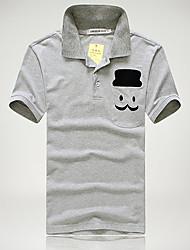 T-Shirts ( Algodão Organico ) MEN - Casual Quadrado - Manga Curta