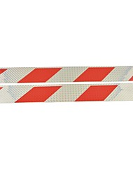 Car Truck Universal Parallelogram Type Reflective Stickers(2PCS)--Silver&Red