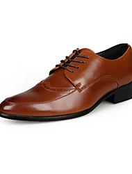 Черный / Коричневый Мужская обувь На каждый день Искусственная кожа Оксфорды