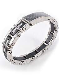 Fashion Men's Health Carbon Fiber Titanium Steel Bangle
