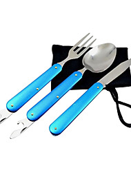 Multi-functional Foldable Flatware Set for Outdoor Picnic 3pcs/ set