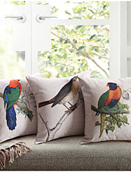 Linen Cotton  Printing Lovebird  Cushion