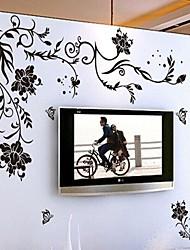 rotin noir sticker mural PVC amovible environnement