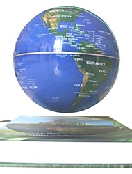 """6"""" Rotating Magnetic Levitation Floating Blue Globe Map with Green Earth Book Base"""