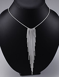 Necklace Pendant Necklaces Jewelry Party / Casual Fashionable Silver / Sterling Silver Silver 1pc Gift