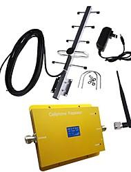 Nouvel écran LCD cdma950 850MHz téléphone mobile cellulaire amplificateur de signal avec antenne fouet et Yagi
