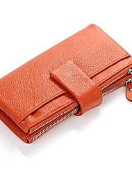Розовый / Зеленый / Желтый / Оранжевый / Коричневый / Красный / Черный - Яловка Для женщин - Кошелек / Визитница / бумажник