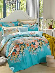 H&C ® 100% Cotton  Duvet Cover Set  4 -Piece Floral Pattern  Modern Simple Style HT422