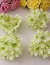 Eight Light Green Hyfrangeas Decorative Wedding Flowers