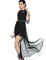 Платье - Выше колена - Хлопок - Секси - Пояс в комплект не входит