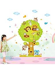 stickers muraux stickers muraux, bande dessinée animale arbre pvc style stickers muraux