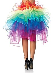 Polyester/Organza A-Line Slip Short-Length Multi-color Irregular Petticoats