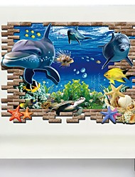 Animals / 3D Wall Stickers 3D Wall Stickers Decorative Wall Stickers,PVC Material Removable Home Decoration Wall Decal