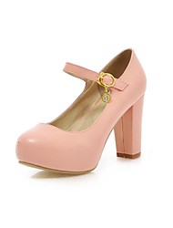 Women's Shoes Platform Chunky Heel Pumps with Buckle Shoes More Colors available