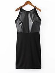 Women PU Dress